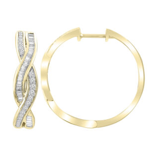 Royal Diamond 9k Yellow Gold Diamond Hoops_0