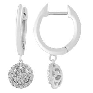 Royal Diamond Huggy Style Diamond Earrings_0