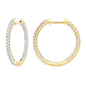 Royal Diamond 9k Yellow Gold Diamond Hoop_0