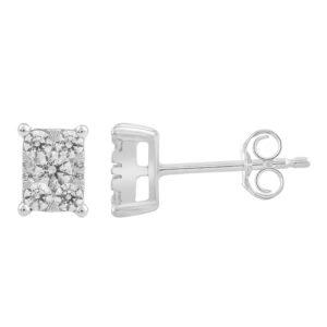 Royal Diamond Cluster Stud Earrings_0