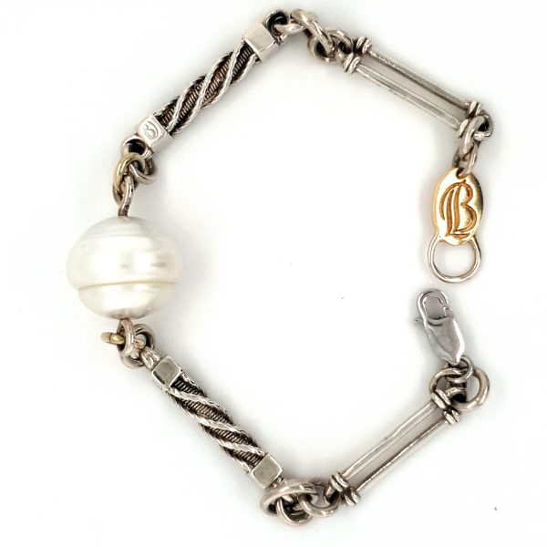 Leon Bakers 9K Yellow and White Gold Bracelet With Broome Pearl_0
