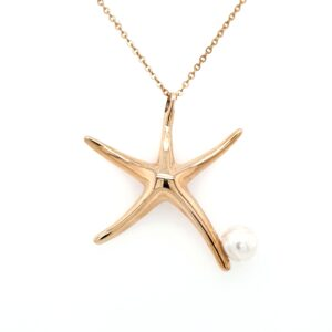 Leon Bakers 9K Yellow Gold Broome Pearl Starfish Pendant_0