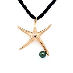 Leon Bakers 9K Yellow Gold Abrolhos Pearl Starfish Pendant_0
