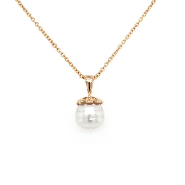 Leon Bakers 9K Yellow Gold Handmade Broome Pearl Pendant_0