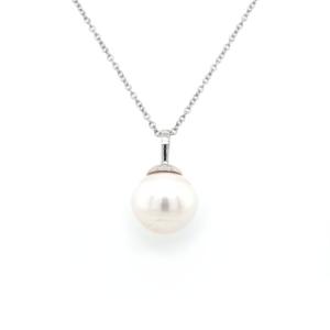 Leon Bakers 9K White Gold Broome Pearl Pendant_0
