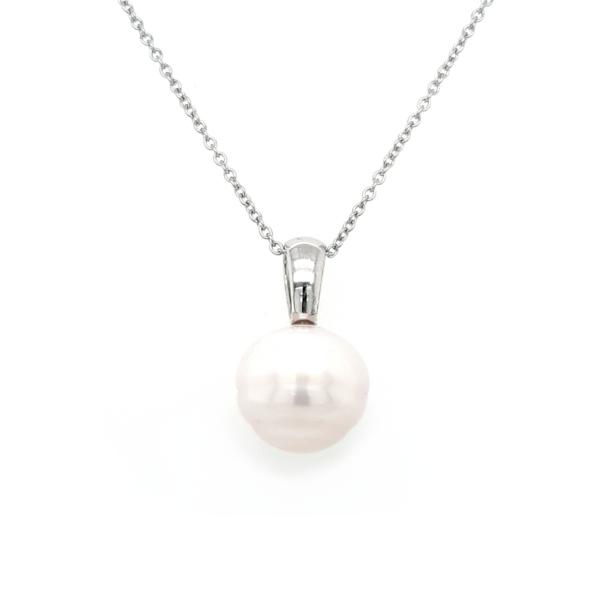 Leon Baker 9K White Gold Broome Pearl Pendant_0