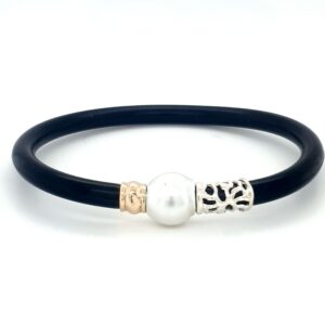 Coral Bay Collection Neoprene and Broome Pearl Bracelet_0