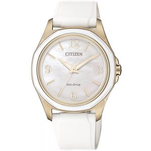 Citizen Eco-Drive Ladies White and Rose Gold Watch_0