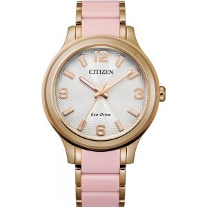 Citizen Eco-Drive Ladies Rose Gold and Pink Watch_0