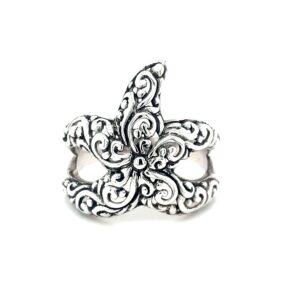 Leon Baker Stirling Silver Starfish Ring_0
