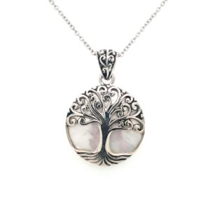 Leon Baker Mother of Pearl Tree Pendant_0
