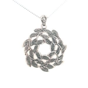 Leon Baker Stirling Silver Leaf Wreath_0