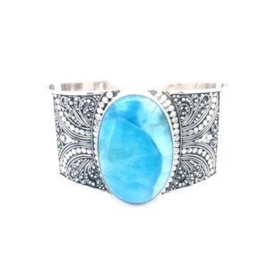 Leon Baker Antique Style Turquoise Cuff_0