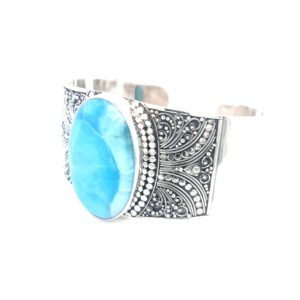 Leon Baker Antique Style Turquoise Cuff_1