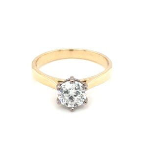 Leon Baker 18K Yellow and White Gold Diamond Solitaire Ring_0