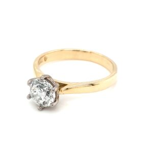 Leon Baker 18K Yellow and White Gold Diamond Solitaire Ring_1