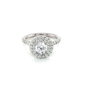 Leon Baker 18K White Gold Double Halo Diamond Ring_0