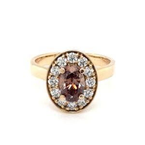 Leon Bakers 18k Oval Champagne Diamond Ring_0