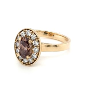 Leon Bakers 18k Oval Champagne Diamond Ring_1