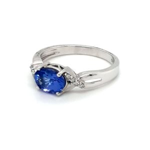 Leon Baker 14K White Gold Tanzanite and Diamond Ring_1