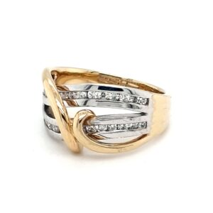 Leon Bakers 18K Yellow and White Gold Diamond Dress Ring_1