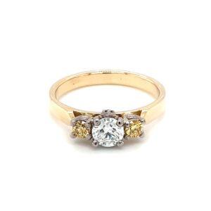 Leon Baker 18K Yellow Gold White and Yellow Diamond Ring_0
