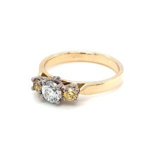 Leon Baker 18K Yellow Gold White and Yellow Diamond Ring_1
