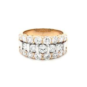 Leon Baker 18K Yellow and White Gold Diamond Ring_0