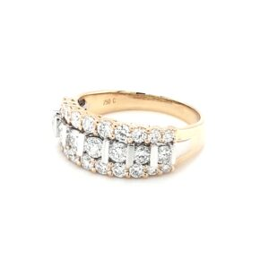 Leon Baker 18K White and Yellow Gold Diamond Ring_1