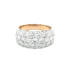 Leon Baker 18K White and Yellow Gold Diamond Ring_0