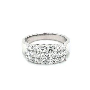 Leon Baker 18K White Gold Diamond Ring_0