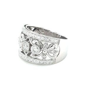 Leon Baker 18K White Gold Diamond Ring_1