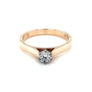 Leon Baker 9K Yellow Gold Solitaire Engagement Ring_0