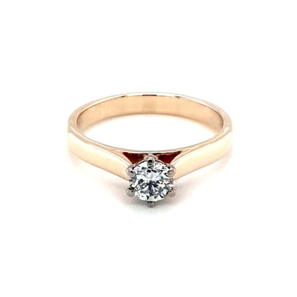 Leon Bakers 9K Yellow Gold Solitaire Engagement Ring_0