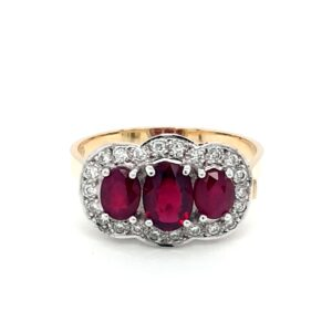 Leon Baker 18K Yellow Gold Oval Ruby Ring_0