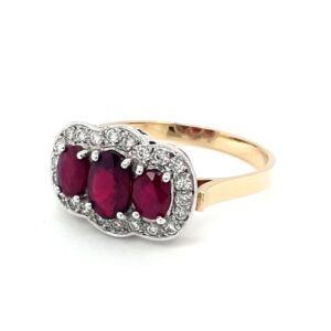 Leon Baker 18K Yellow Gold Oval Ruby Ring_1