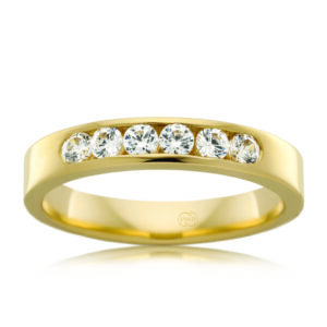 Leon Bakers 18K Yellow Gold Channel Set Wedding Ring_0