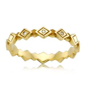 Leon Bakers 9K Yellow Gold Geo Design Ring_0