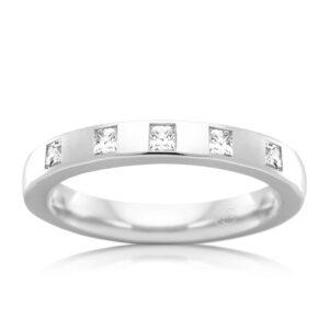 Leon Bakers 9K White Gold Diamond Wedder_0