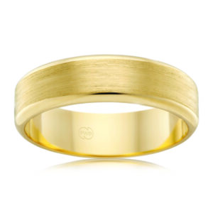 Leon Bakers 9K Yellow Gold Frosted Wedding Band_0