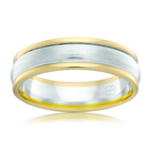 Leon Bakers 9K Two-Toned Mens Wedding Band_0