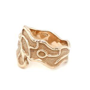 Leon Baker 9K Yellow Gold Molten Style Ring_1
