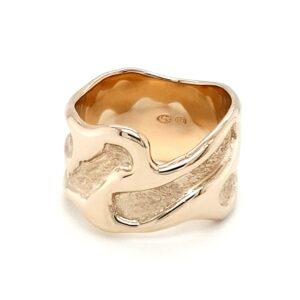 Leon Baker 9K Yellow Gold Handmade Ring_1