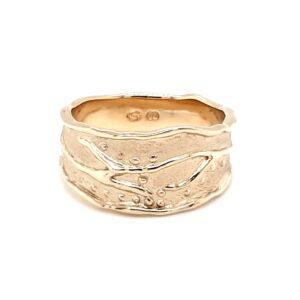 Leon Baker 9K Yellow Gold Handmade Ring_0