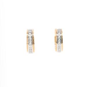 Leon Baker 18K Yellow and Gold Diamond Earrings_0