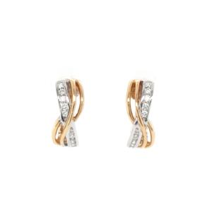 Leon Baker 18K Yellow and White Gold Diamond Earrings_0