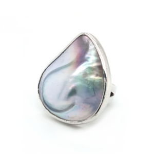 Leon Baker Sterling Silver Abrolhos Mabe Pearl Ring_1
