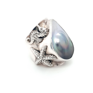 Leon Baker Coral Bay Sterling Silver Abrolhos Pearl Ring_1