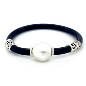Leon Baker Coral Bay Broome Pearl and Sterling Silver Neoprene Bracelet_0