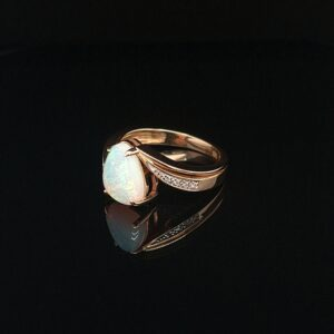 Leon Bakers 14K Yellow Gold Solid Opal Ring_1